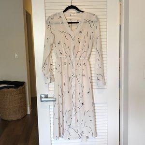 ASOS Aware brand white print midi/maxi dress